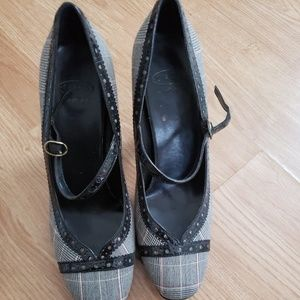 Plaid Heels Size 7.5